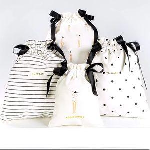 NWT Kate Spade Getting Dressed Travel Bag Set